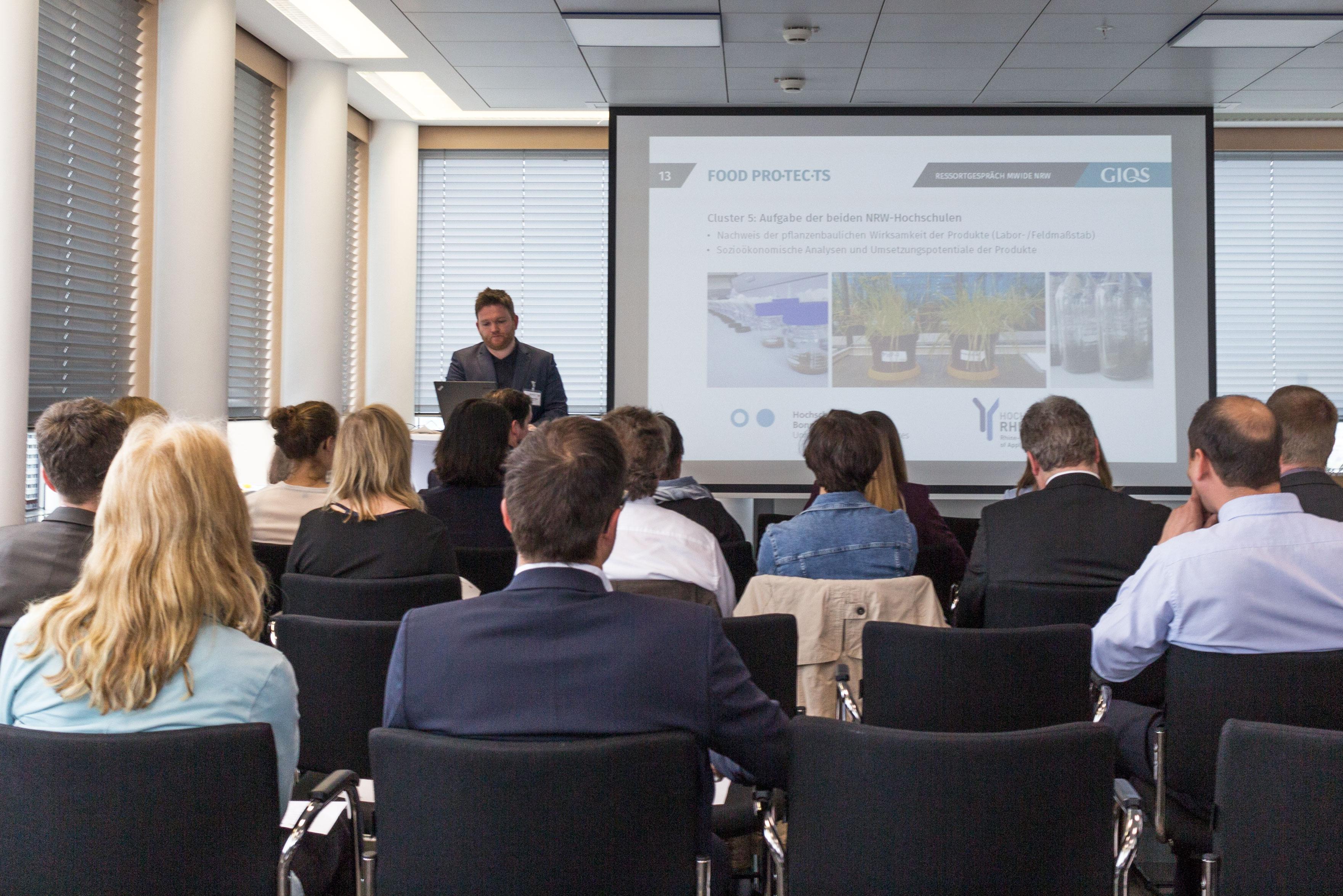 Präsentation im Wirtschaftsministerium NRW